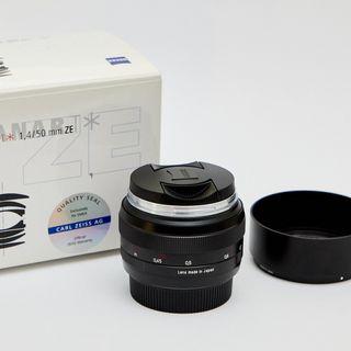 Objetivo Zeiss Planar T* 1.4/50 mm ZE para Canon