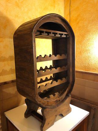 Mueble botellero rustico