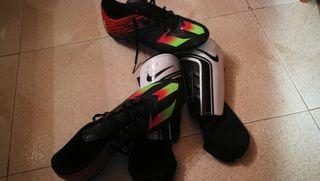 botas de fútbol con espinilleras