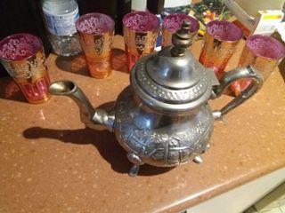 tetera Marroquí + 6 vasos de Té