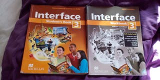 Libros de inglés Interface Students y Workbook3ESO