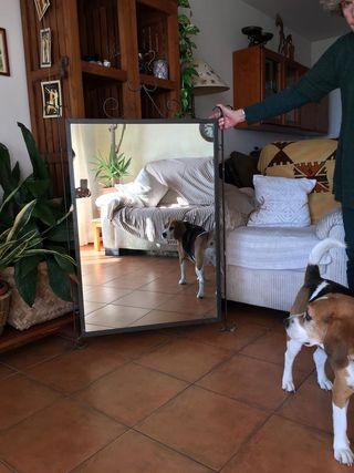 Espejo con marco de hierro forjado