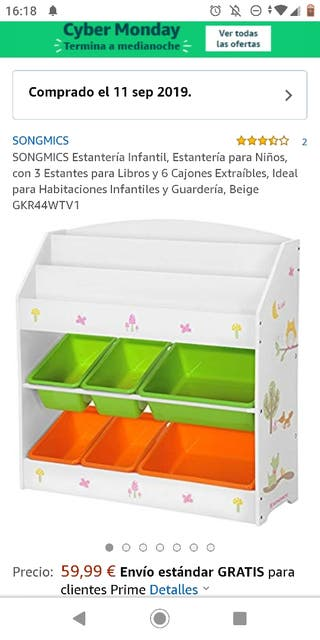 juguetes y libros mueble organizador