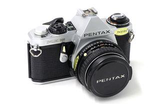 Cámara de fotos analógica Pentax Me Super plata