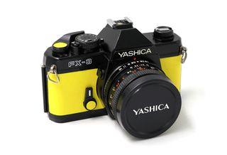 Cámara de fotos analógica Yashica Fx-3 amarilla