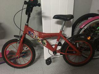 Bicicleta niño Cars + casco
