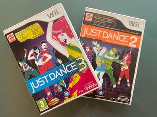 Just dance 2 y just dance 3. Juegos wii