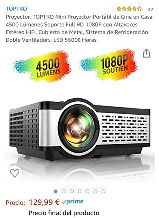 Proyector Full HD 4500 lumens. Nuevo