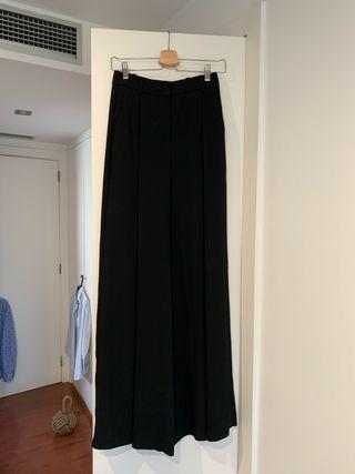 Pantalon ancho acampanado negro 36