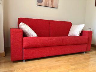 Sofá cama rojo de 3 plazas perfecto estado
