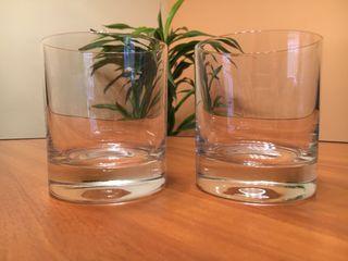 Caja 6 vasos cristal italiano. Nuevos.