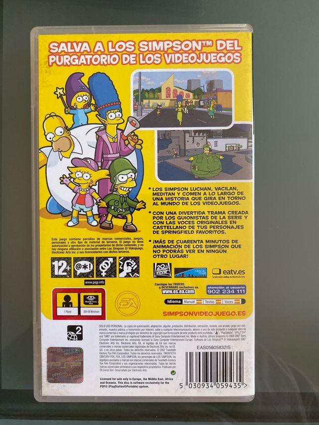 Videojuego PSP Los Simpson