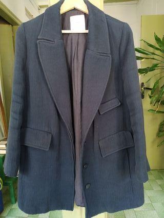 Abrigo azul oscuro Mango