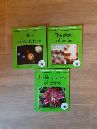 3 libros MacMillan science Readers