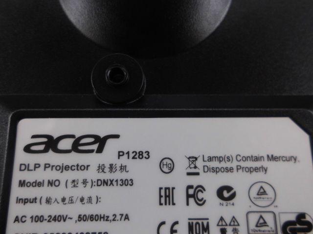 Proyector Acer P1283 DLP 3D - HDMI