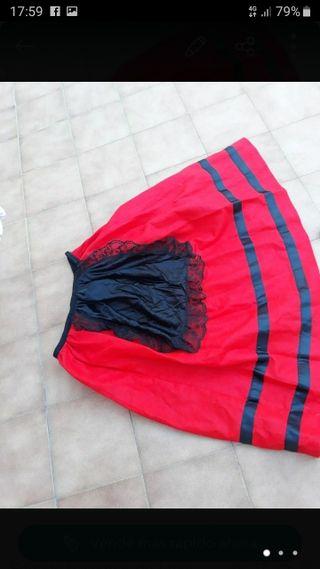 falda de pastorcilla talla 7/9 años