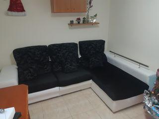 sofá sheslong de piel