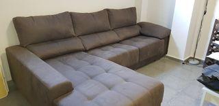 Sofá 3 plazas + chaiselongue 290cm