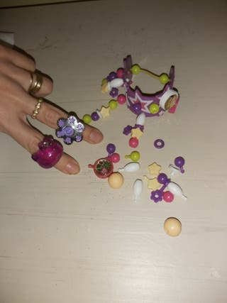 pulsera para montar y anillos