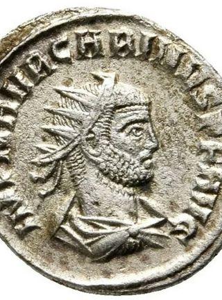 moneda romana (antoniano de plata)