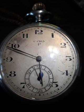 Reloj de bolsillo cyma, antiguo.