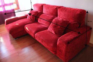 Sofá Chaise Longue Rojo