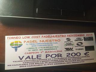 200€ Gratis en Padelnuestro