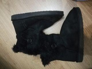 Botas de pelo negras