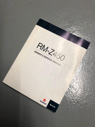 Manual Suzuki RMZ 450 2010