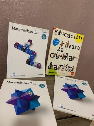 Libros de texto matematicas SANTILLANA