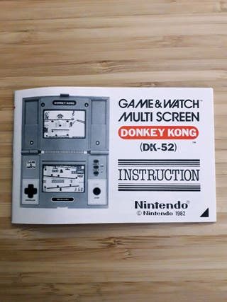 Instrucciones Donkey Kong DK-52 Game & Watch 1982