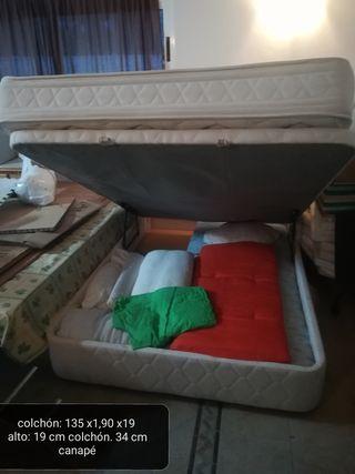 canapé + colchón 135x190