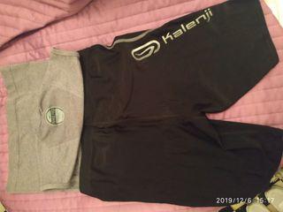 camiseta y mallas