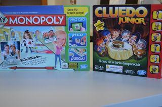 MONOPOLY Y CLUEDO JUNIOR