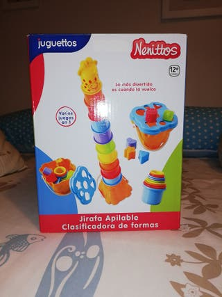 juguete jirafa apilable y clasificador a de formas