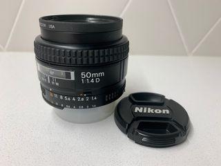 Objetivo NIKON AF Nikkor 50mm 1:1.4D