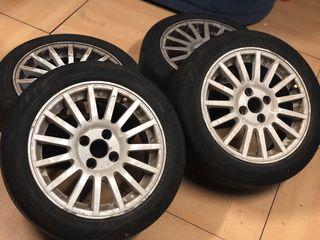 "Llantas 15"" 4x100 + neumáticos"