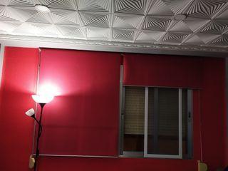 cortina 2 stor rojo 40euros, 1.25cm cada uno