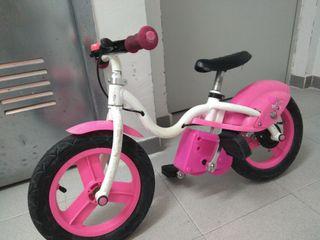 """bici sin pedales 12"""" con adaptador de pedales"""