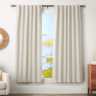 Barra de cortina con terminales de jaula.ajustable