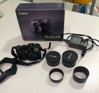 Canon Powershot G10 + carcasa para buceo