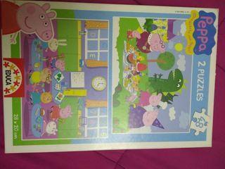Set de dos puzzles de Peppa Pig.