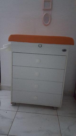 Mueble cambiador/bañera bebé