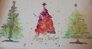 Postales y tarjetas Navidad Acuarelas