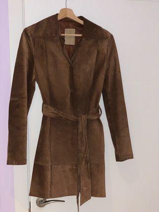 Abrigo piel Mango