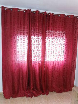 juego de 4 cortinas
