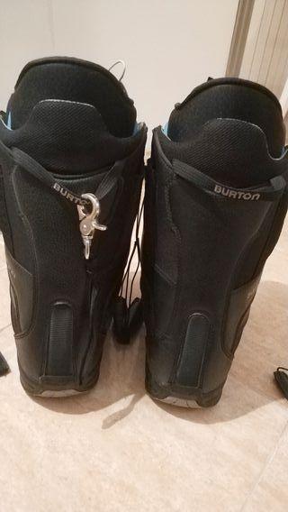 Tabla de Snowboard con fijaciones botas y funda