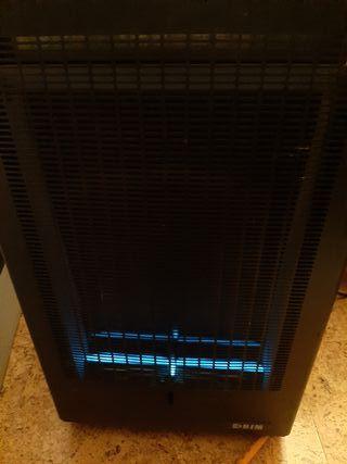 estufa de butano llama azul