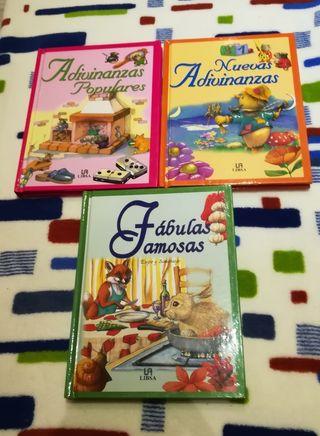 Libros de fábulas y adivinanzas infantiles