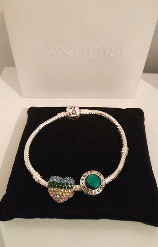 Pulsera estilo Pandora + charms nuevo